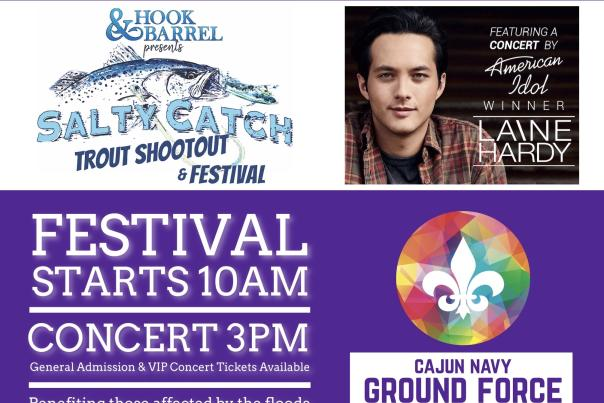 Salty Catch Trout Shootout & Festival Featuring a Concert by American Idol winner, Laine Hardy