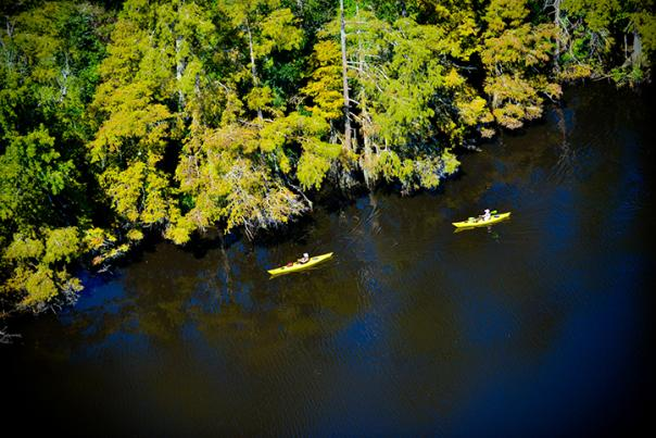Kayaking in Lake Charles