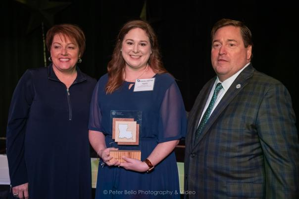 Taylor Beard Stanley of Visit Lake Charles awarded Rising Star of the Year