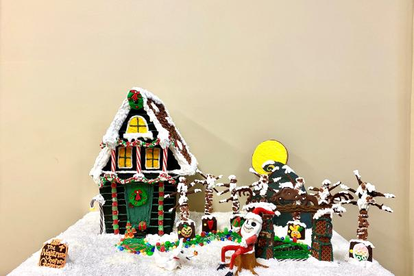 Gingerbread House Contest People's Choice Winner Nightmare Before Christmas Visit Lake Charles