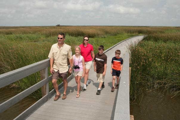 Wetland Walkway with family