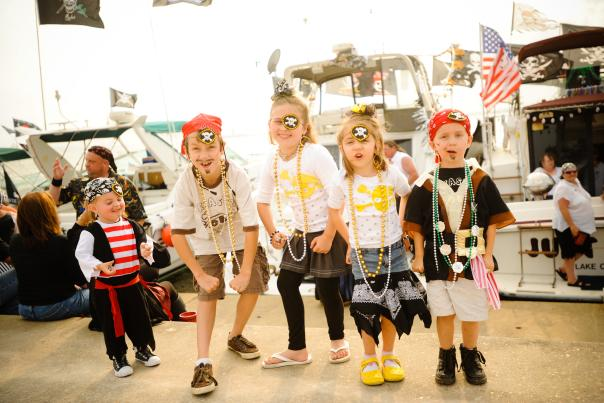 Kid Pirates at Louisiana Pirate Festival