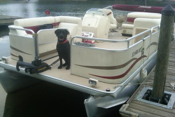 Murrey on Boat