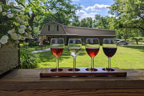 Burgdorf's winery patio