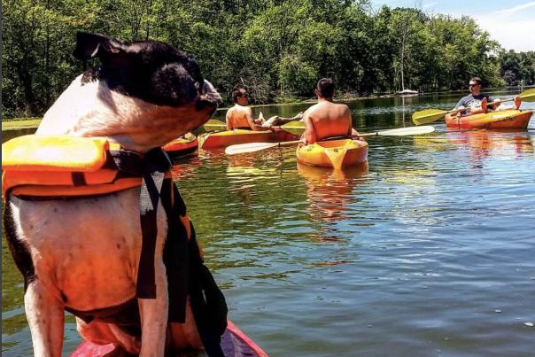 Mr. Feeny on a kayak