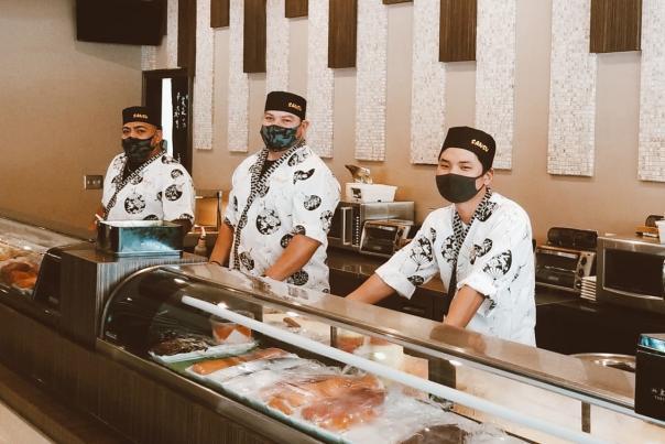 Sansu Staff with Masks