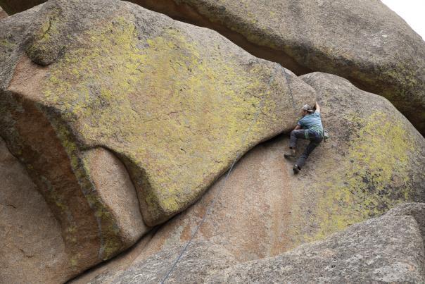 Rock Climbing Vedauwoo Wyoming Crack Trad climb