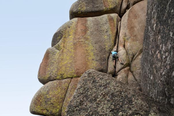 Crack Climbing Vedauwoo Wyoming rock face