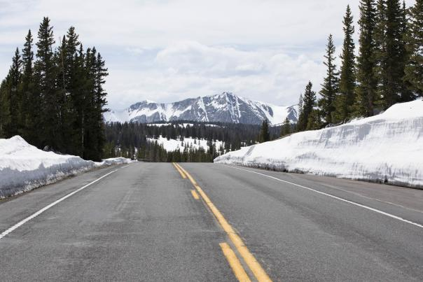 Snowy Range Scenic Byway road view