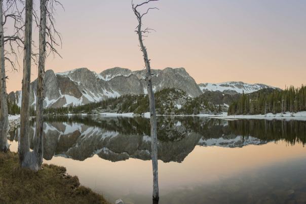 Medicine Bow Peak Lake Marie Sunset