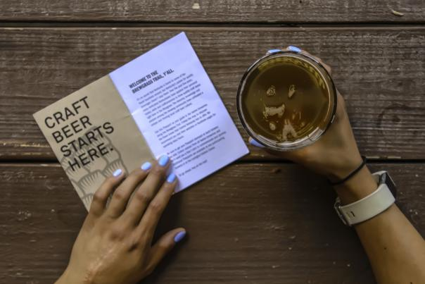 Brewgrass Trail Passport and beer.