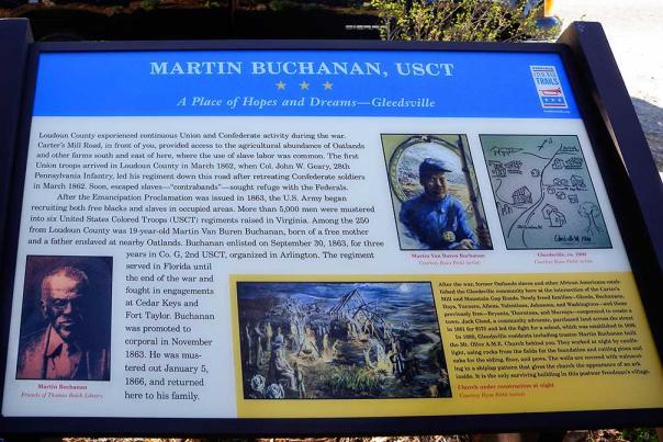 Martin Van Buren Buchanan Marker