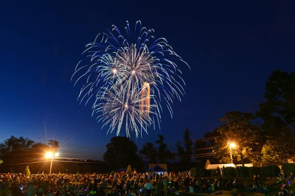 Fireworks above Middleburg