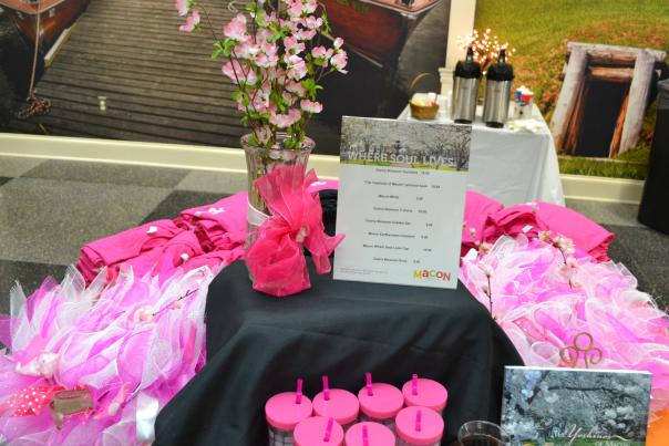 Cherry Blossom Merchandise Table