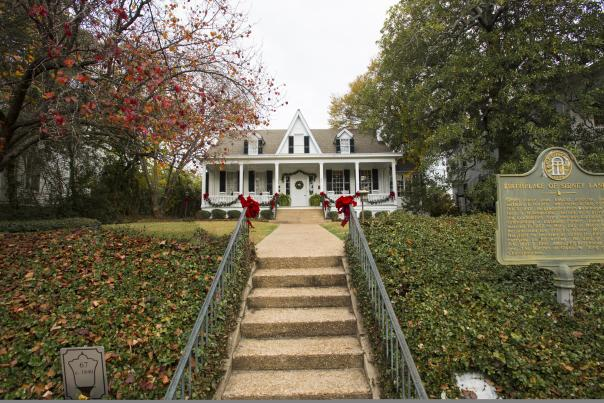 Sidney Lanier Cottage at Christmas