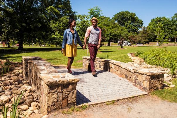 Couple at Tattnall Square Park