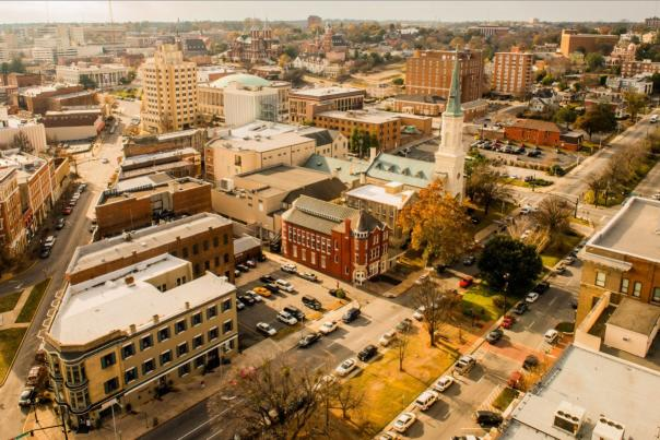 Downtown Macon Aerial Shot