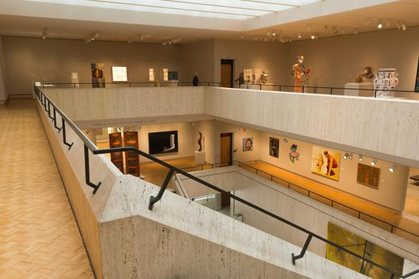 Inside of the Chazen Museum of Art in Madison, WI