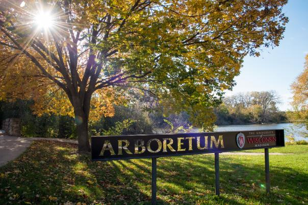 Arboretum entrance sign near Henry Vilas Zoo