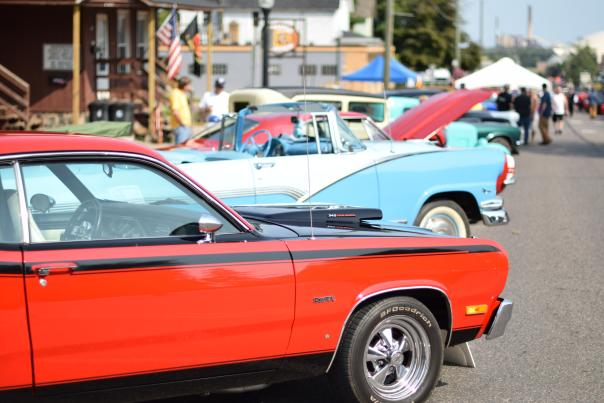 A lineup of cars at Classic Cars on Third