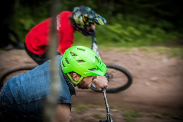 The Dual Slalom event at the Marquette Trails Festival in Marquette, Michigan.