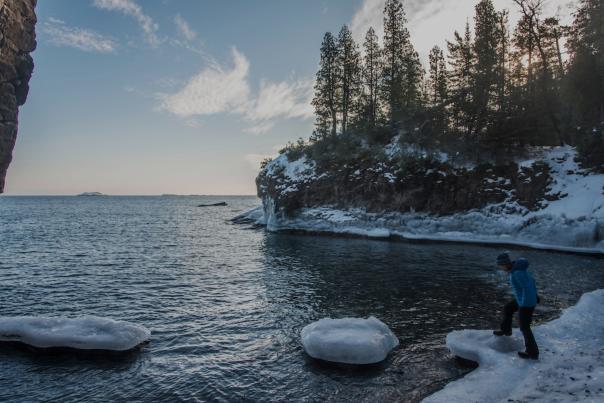 Snowy Shoreline