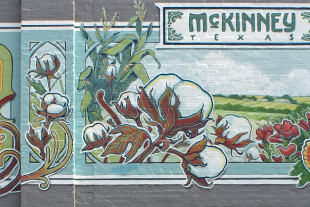 Mural on Cadillac Pizza building