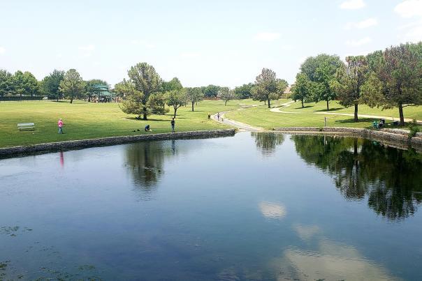 Fishing at Katherine B. Winnefred Park in McKinney