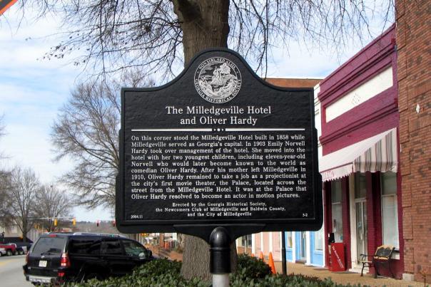 Oliver Hardy Hotel Marker