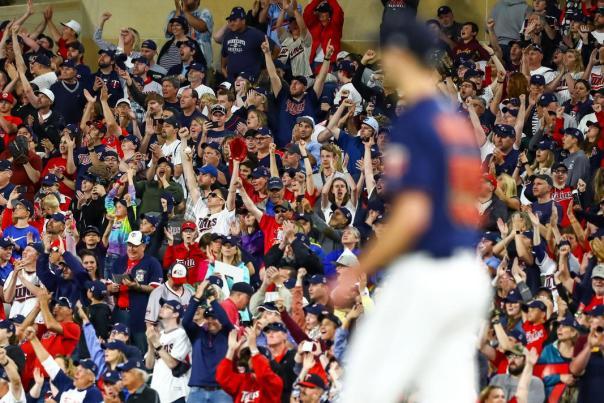 Cheering Crowd at Target Field