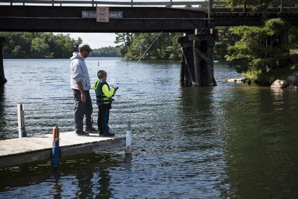Father & Son Fishing in Minocqua