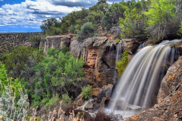 Springtime waterfall on Uncompahgre Plateau