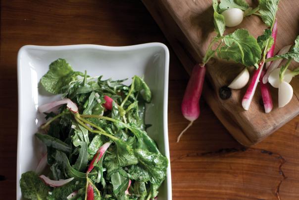 Radish Salad with Wild Arugula