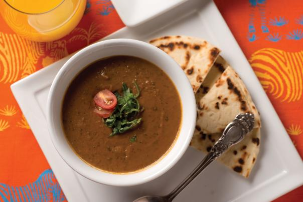 Curried Black Bean and Sweet Potato Soup from Jambo Cafe