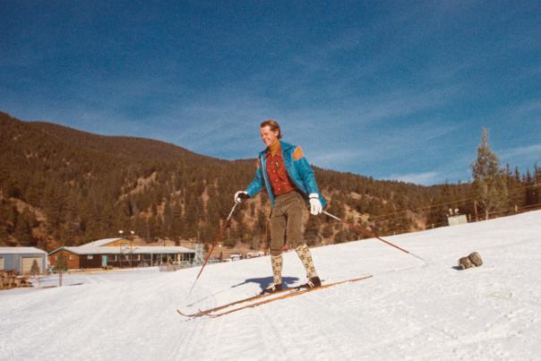 John Miller cruises Powder Puff Mountain