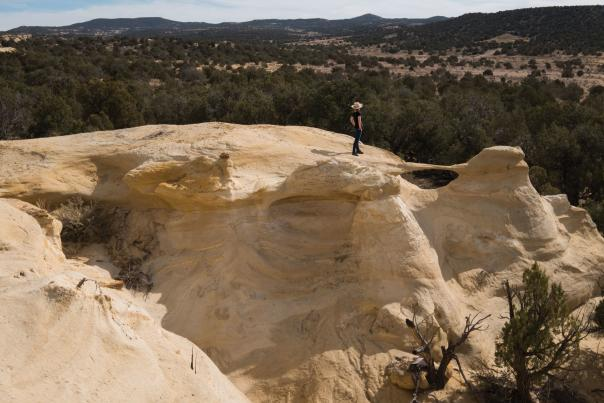 Aztec's Alien Run Trail offers other-wordly vistas and mild weather, even in the deepest part of winter.