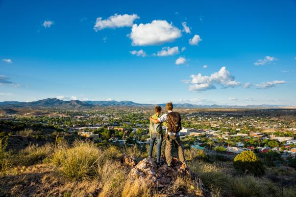 Boston Hill's summit is a handy vantage point for getting the lay of the land in Silver City.