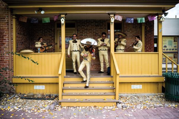 Mariachi musicians at Sliver City's Dia de los Muertos