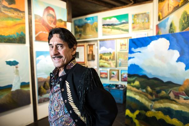 Taos Original, Equal parts showman and artist, Ed  Sandoval conjures a timeless New Mexico, New Mexico Magazine
