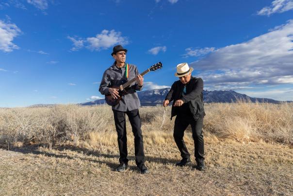 "The band, Native Roots, Emmett ""Shkeme"" Garcia and John Williams"