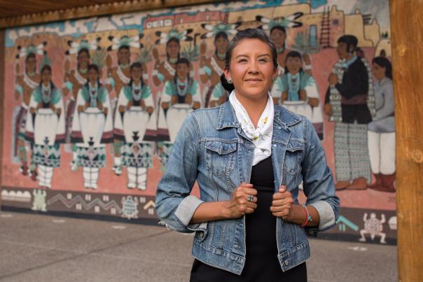 Stephanie Oyenque of Albuquerque's Indian Pueblo Cultural Center