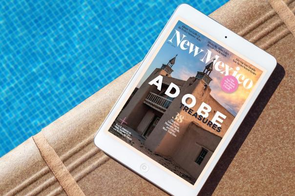 An iPad by a pool