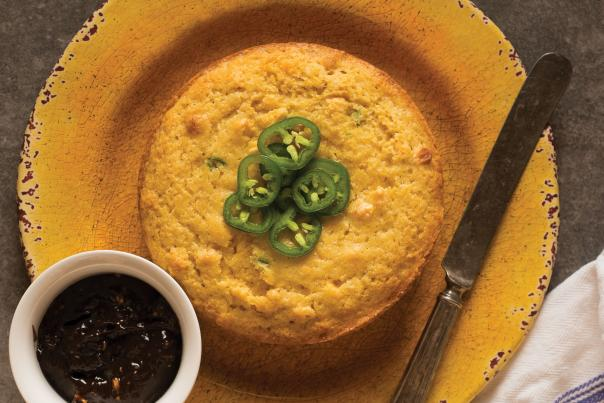 Jalapeno Cornbread with Sorghum Butter