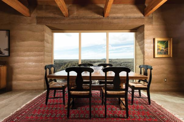 The dining room of Peter and Maria Selzer's house in Taos