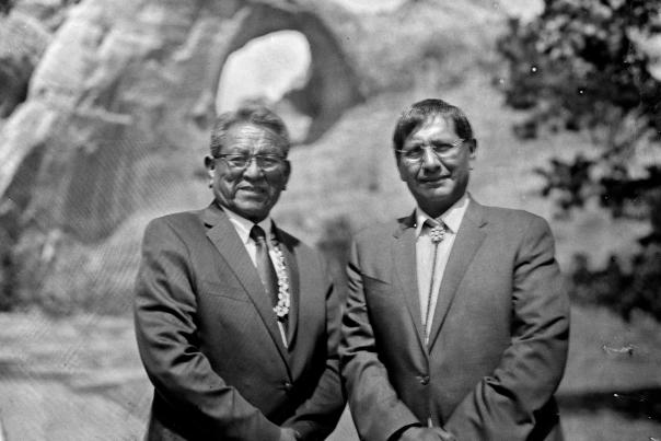 Navajo Nation President Russell Begaye and Vice President Jonathan Nez at Window Rock.