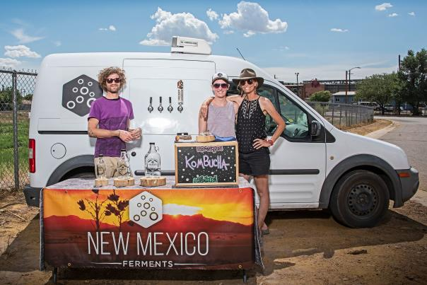 New Mexico Ferments outside of the Rail Yards Market in Albuquerque.