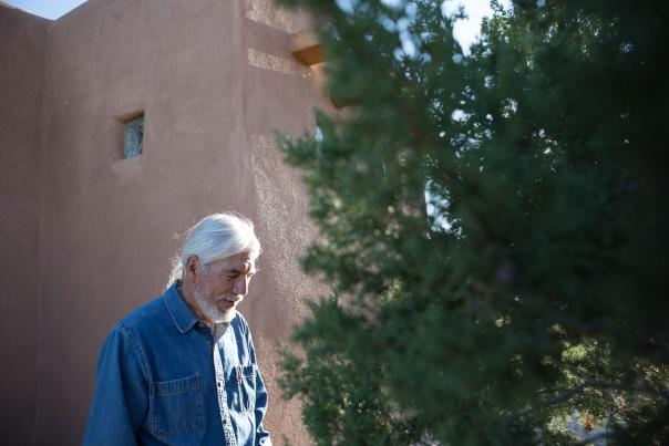 Dan Flores outside his New Mexico home.