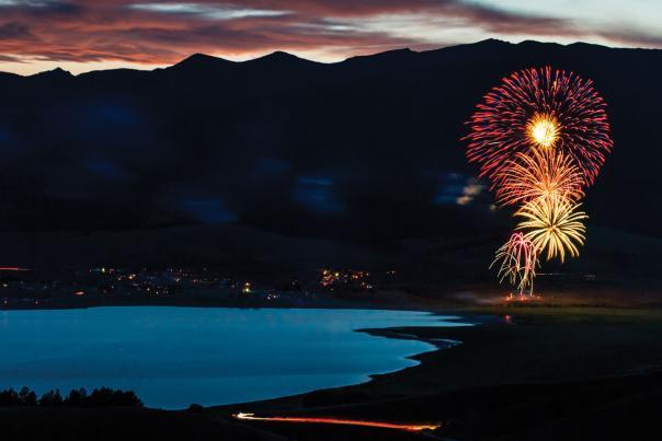 Fireworks above Eagle Nest