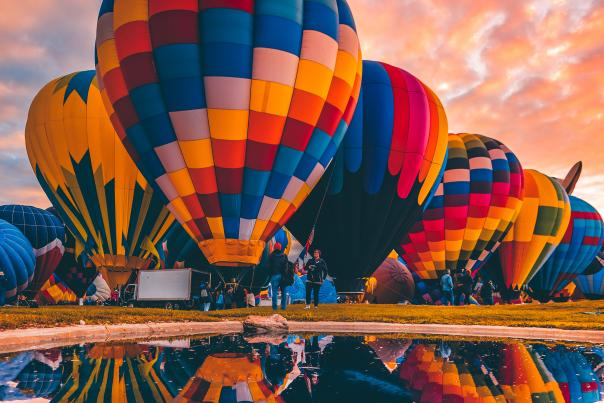 Balloons at Sunrise, 20th Annual New Mexico Magazine Photo Contest Honorable Mention in the Experiences Category