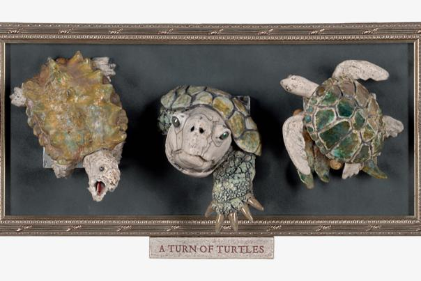A Turn of Turtles from Mandy Stapleford's Nobility of Beasts at Taos Center for the Arts